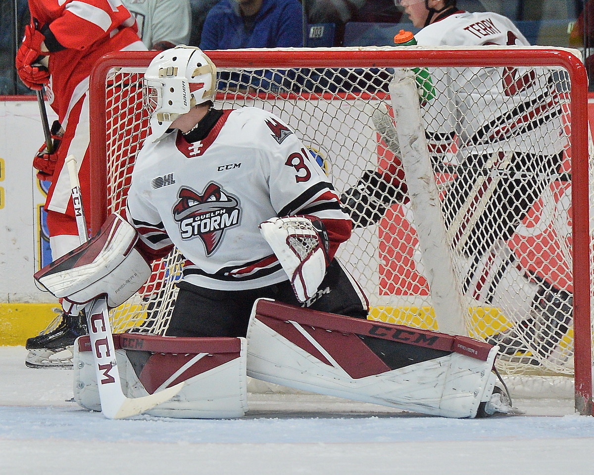 Owen Bennett of the Guelph Strom. Photo by Terry Wilson / OHL Images.