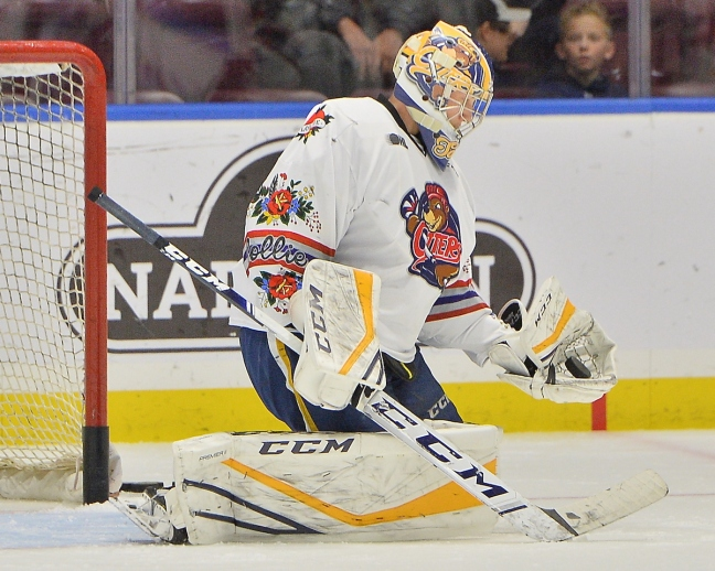 Aidan Campbell of the Erie Otters. Photo by Terry Wilson / OHL Images.