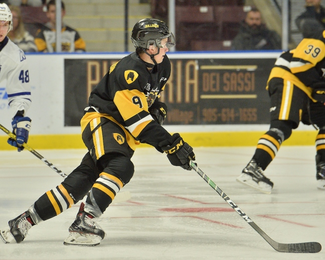 Logan Morrison of the Hamilton Bulldogs. Photo by Terry Wilson / OHL Images.