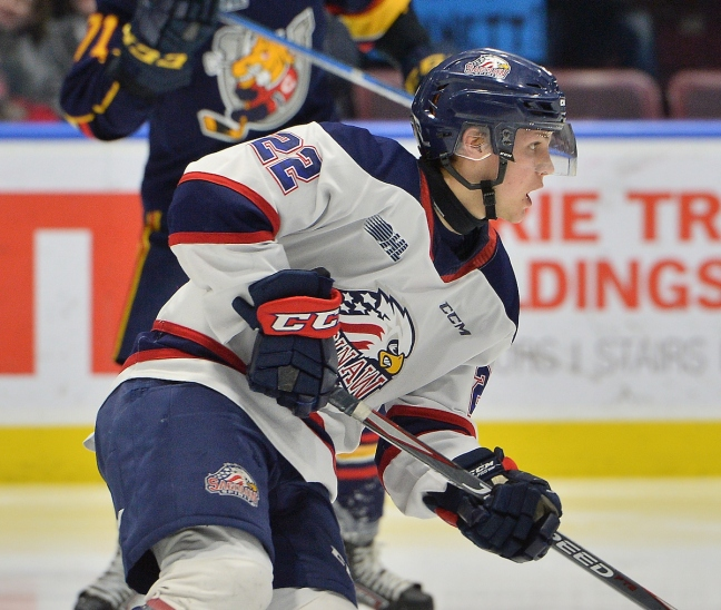 Mitchell Smith of the Saginaw Spirit. Photo by Terry Wilson / OHL Images.